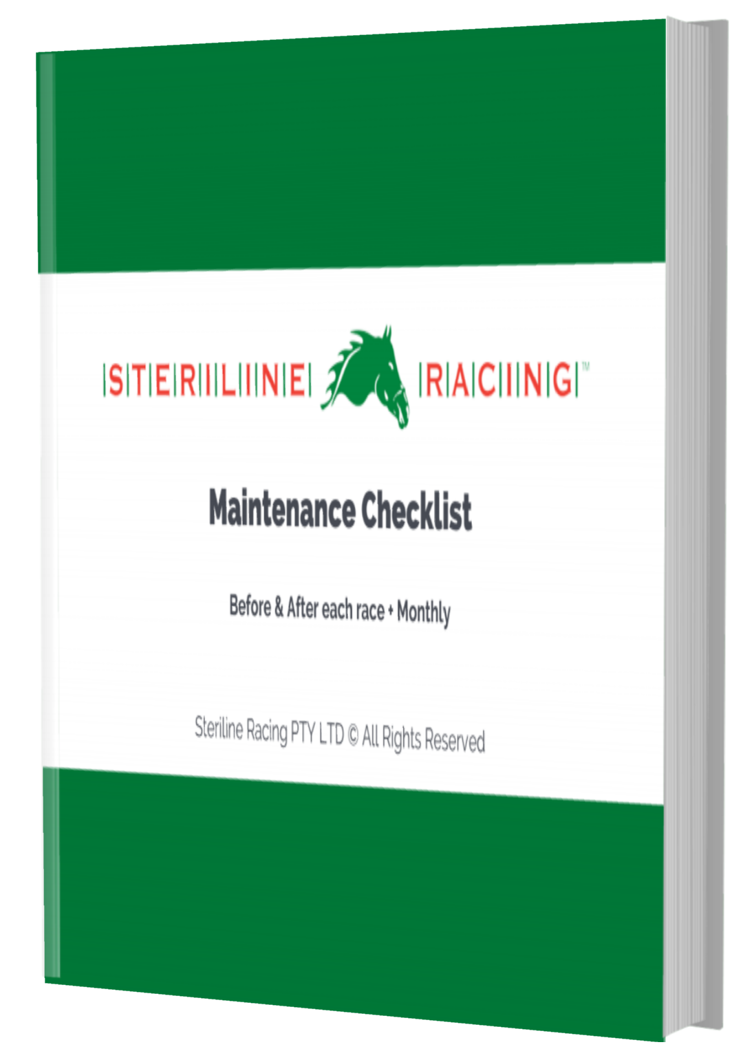 Maintenance Checklist Cover